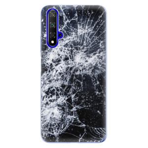 Silikonové odolné pouzdro iSaprio Cracked na mobil Honor 20