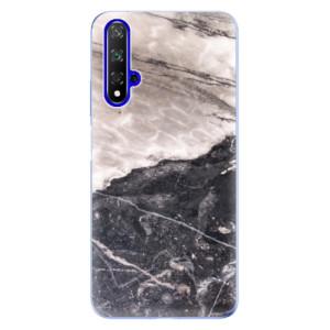Silikonové odolné pouzdro iSaprio BW Marble na mobil Honor 20