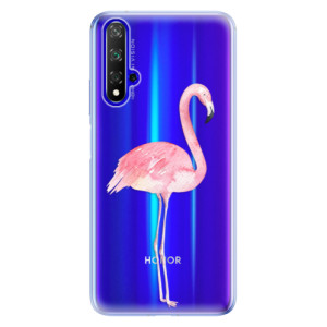 Silikonové odolné pouzdro iSaprio Flamingo 01 na mobil Honor 20