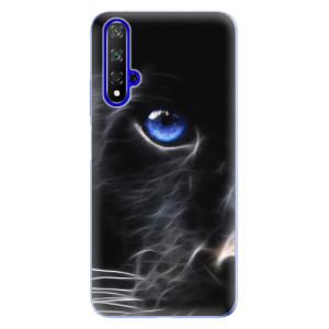 Silikonové odolné pouzdro iSaprio Black Puma na mobil Honor 20
