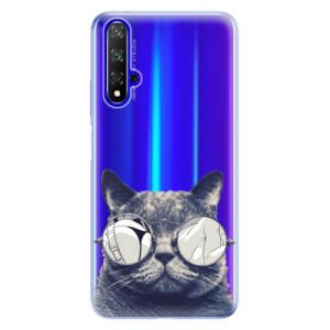 Silikonové odolné pouzdro iSaprio Crazy Cat 01 na mobil Honor 20