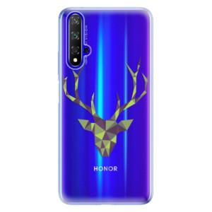 Silikonové odolné pouzdro iSaprio Deer Green na mobil Honor 20