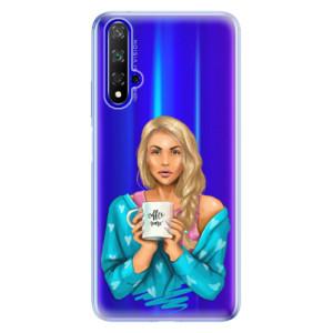 Silikonové odolné pouzdro iSaprio Coffee Now Blond na mobil Honor 20