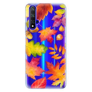 Silikonové odolné pouzdro iSaprio Autumn Leaves 01 na mobil Honor 20