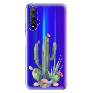 Silikonové odolné pouzdro iSaprio Cacti 02 na mobil Honor 20