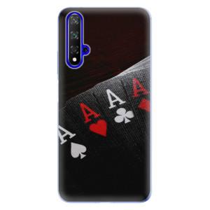 Silikonové odolné pouzdro iSaprio Poker na mobil Honor 20