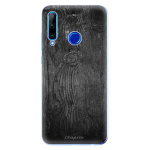 Silikonové odolné pouzdro iSaprio Black Wood 13 na mobil Honor 20 Lite