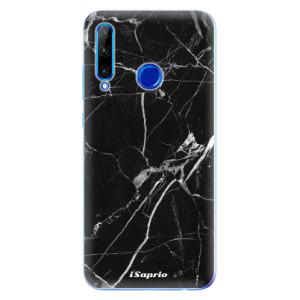 Silikonové odolné pouzdro iSaprio Black Marble 18 na mobil Honor 20 Lite