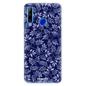 Silikonové odolné pouzdro iSaprio Blue Leaves 05 na mobil Honor 20 Lite