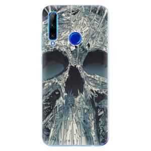 Silikonové odolné pouzdro iSaprio Abstract Skull na mobil Honor 20 Lite
