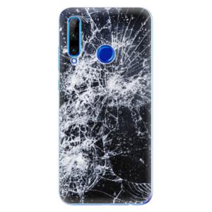 Silikonové odolné pouzdro iSaprio Cracked na mobil Honor 20 Lite
