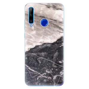 Silikonové odolné pouzdro iSaprio BW Marble na mobil Honor 20 Lite
