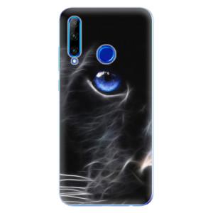 Silikonové odolné pouzdro iSaprio Black Puma na mobil Honor 20 Lite