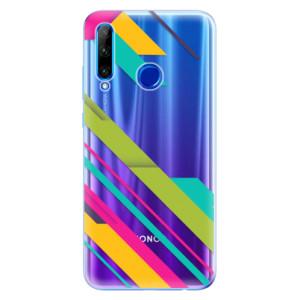 Silikonové odolné pouzdro iSaprio Color Stripes 03 na mobil Honor 20 Lite