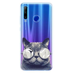Silikonové odolné pouzdro iSaprio Crazy Cat 01 na mobil Honor 20 Lite