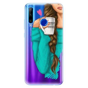 Silikonové odolné pouzdro iSaprio My Coffee and Brunette Girl na mobil Honor 20 Lite