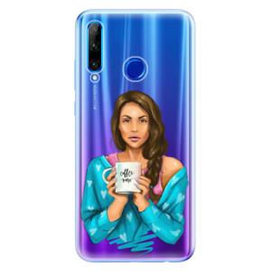 Silikonové odolné pouzdro iSaprio Coffee Now Brunette na mobil Honor 20 Lite