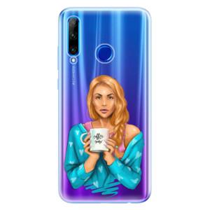 Silikonové odolné pouzdro iSaprio Coffee Now Redhead na mobil Honor 20 Lite