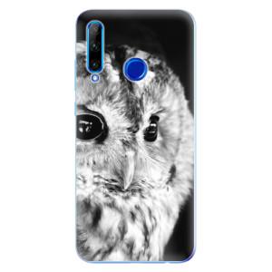 Silikonové odolné pouzdro iSaprio BW Owl na mobil Honor 20 Lite