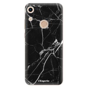 Silikonové odolné pouzdro iSaprio Black Marble 18 na mobil Honor 8A