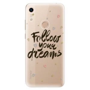 Silikonové odolné pouzdro iSaprio Follow Your Dreams black na mobil Honor 8A