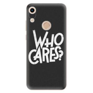 Silikonové odolné pouzdro iSaprio Who Cares na mobil Honor 8A