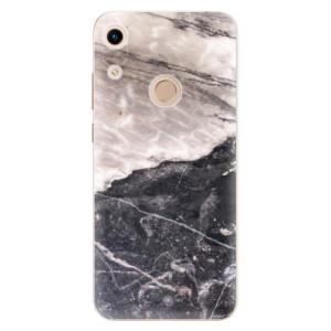 Silikonové odolné pouzdro iSaprio BW Marble na mobil Honor 8A