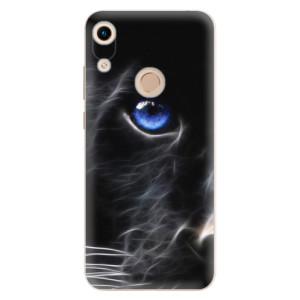 Silikonové odolné pouzdro iSaprio Black Puma na mobil Honor 8A