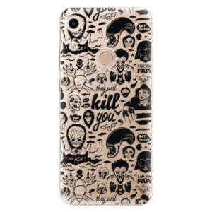 Silikonové odolné pouzdro iSaprio Comics 01 black na mobil Honor 8A