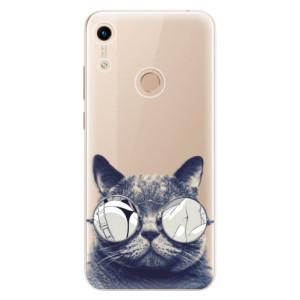 Silikonové odolné pouzdro iSaprio Crazy Cat 01 na mobil Honor 8A