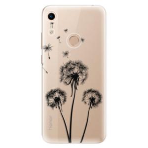 Silikonové odolné pouzdro iSaprio Three Dandelions black na mobil Honor 8A