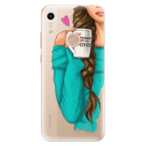 Silikonové odolné pouzdro iSaprio My Coffee and Brunette Girl na mobil Honor 8A