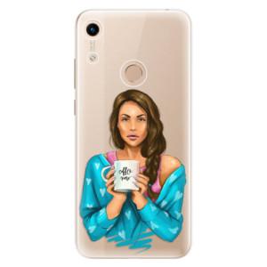 Silikonové odolné pouzdro iSaprio Coffee Now Brunette na mobil Honor 8A