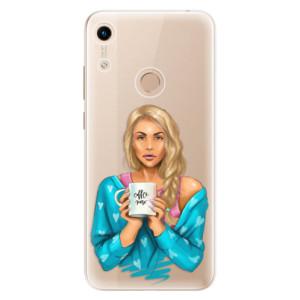 Silikonové odolné pouzdro iSaprio Coffee Now Blond na mobil Honor 8A