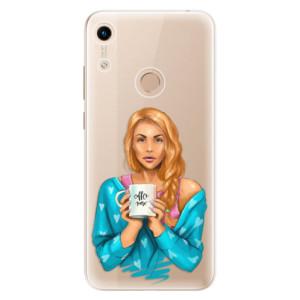 Silikonové odolné pouzdro iSaprio Coffee Now Redhead na mobil Honor 8A