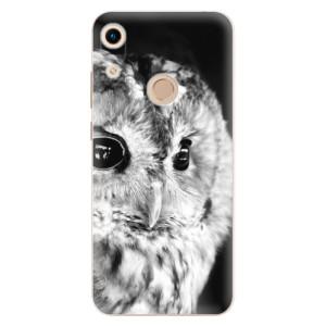 Silikonové odolné pouzdro iSaprio BW Owl na mobil Honor 8A