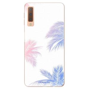 Silikonové odolné pouzdro iSaprio Digital Palms 10 na mobil Samsung Galaxy A7 (2018)