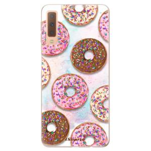 Silikonové odolné pouzdro iSaprio Donuts 11 na mobil Samsung Galaxy A7 (2018)