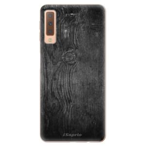 Silikonové odolné pouzdro iSaprio Black Wood 13 na mobil Samsung Galaxy A7 (2018)