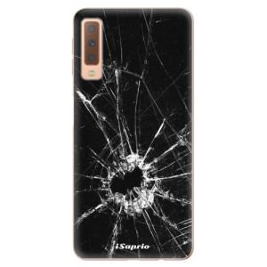 Silikonové odolné pouzdro iSaprio Broken Glass 10 na mobil Samsung Galaxy A7 (2018)