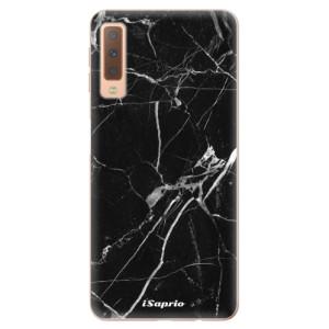 Silikonové odolné pouzdro iSaprio Black Marble 18 na mobil Samsung Galaxy A7 (2018)