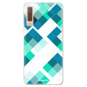 Silikonové odolné pouzdro iSaprio Abstract Squares 11 na mobil Samsung Galaxy A7 (2018)