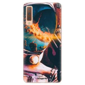 Silikonové odolné pouzdro iSaprio Astronaut 01 na mobil Samsung Galaxy A7 (2018)