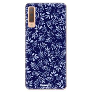 Silikonové odolné pouzdro iSaprio Blue Leaves 05 na mobil Samsung Galaxy A7 (2018)