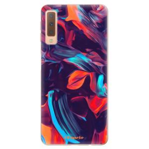Silikonové odolné pouzdro iSaprio Color Marble 19 na mobil Samsung Galaxy A7 (2018)