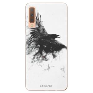 Silikonové odolné pouzdro iSaprio Dark Bird 01 na mobil Samsung Galaxy A7 (2018)