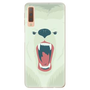 Silikonové odolné pouzdro iSaprio Angry Bear na mobil Samsung Galaxy A7 (2018)