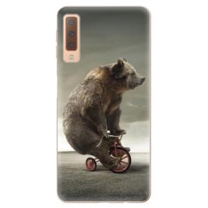 Silikonové odolné pouzdro iSaprio Bear 01 na mobil Samsung Galaxy A7 (2018)