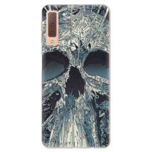 Silikonové odolné pouzdro iSaprio Abstract Skull na mobil Samsung Galaxy A7 (2018)