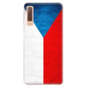 Silikonové odolné pouzdro iSaprio Czech Flag na mobil Samsung Galaxy A7 (2018)